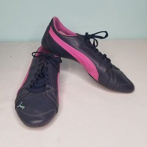 PUMA purple and pink sneakers